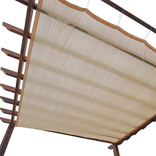 LXLA Sun Shade Panel Privacy Screen with Grommets, 90% Sunblock - for Outdoor, Patio, Awning, Window Cover, Pergola or Gazebo (Beige) (Size : 3m x 5m)