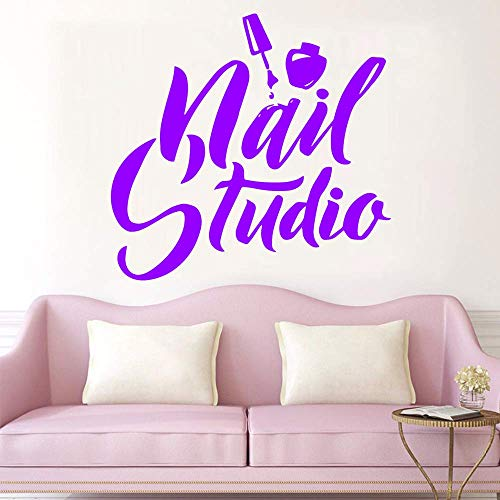 Beauty Salon muurstickers nagellak muursticker voor nagel Studio Logo Vinyl Stickers Manicure Pedicure behang Decal 28X29Cm