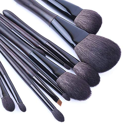 GBY Lot de 12 pinceaux de maquillage professionnels pour fond de teint, blush, yeux, poudre, crème, cosmétiques, maquillage