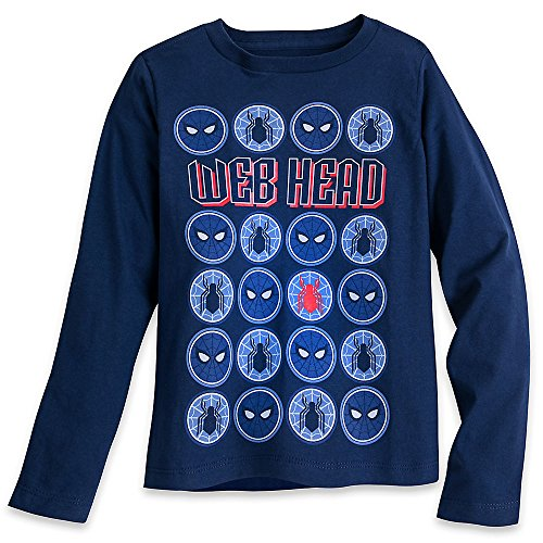 Marvel Spider-Man Long Sleeve T-Shirt for Boys Size S (5/6) Blue