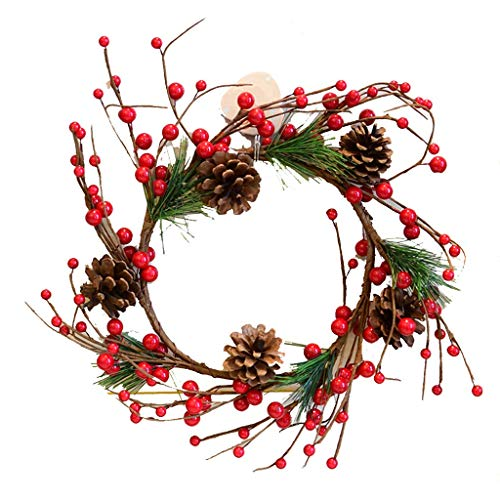 ZHENYANG Guirnalda de Mimbre Que cuelga de la Pared de la Puerta, Pino Cono de la Fruta Decoración de Navidad Guirnalda, 30cm (Size : 130cm)