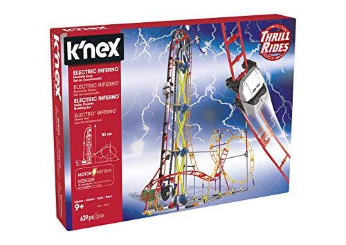 K'nex Cars Thrill Rides. Montaña Rusa Electric Inferno. Juego de Construcción con Motor.639 Piezas. A Partir de 9 años. (Ref. 41213) (Chicos