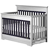 Dream On Me Chesapeake 5-in-1 Convertible Crib, Platinum and Navy