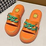 LLRR Planas Zapatos de Playa y Piscina,Nuevas Zapatillas Coloridas de Fondo Grueso para Mujer,...