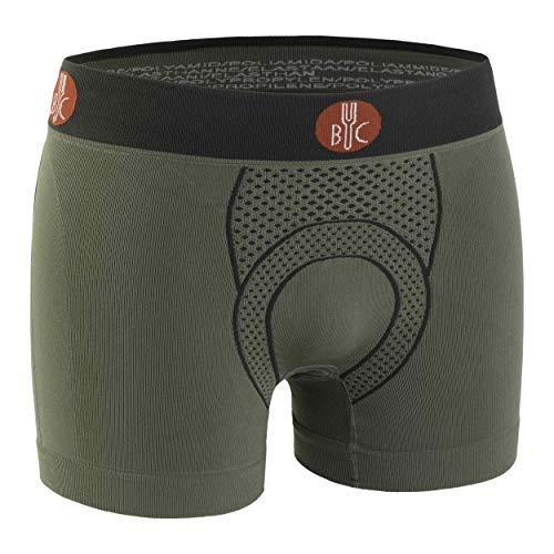 For.Bicy Herren Boxershorts Urban Life mit Pad, Sage Green/Anthracite, L/XL, U100001