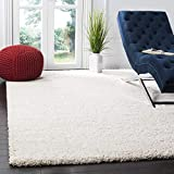Safavieh Milan Shag Collection SG180 Solid 2-inch Thick Area Rug, 6' x 9', Ivory