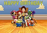 8.3 x 11.7 Inch Edible Square Cake Toppers – Toy Story Themed Birthday Party Collection of Edible Cake Decorations