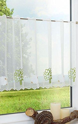 LYSEL Scheibengardine Schäfchen (Bx H) 150cm * 50cm grün/grasgrün
