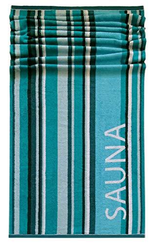 Lashuma saunadoeken, blokstrepen Helsinki, ligdoek 85 x 200 cm, XXL handdoek, badhanddoek, 100% katoen