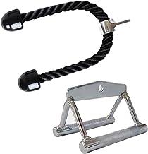 Fitness-Rack-Set mit 2 Stangen, Klimmzugstange, Tauchständer, Latzug und Ruderzug, schmaler Rudergriff mit/ohne Drehgelenk...