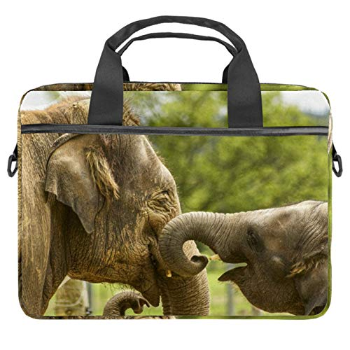 Laptop Bag Baby Elephant Notebook Sleeve with Handle 13.4-14.5 inches Carrying Shoulder Bag Briefcase