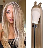 FUHSI Lace Front Wigs 30Inch Wig Natural Hairline 4.5' Deep Part HD Transparent Lace For Women Straight Glueless FUTURA Fiber Synthetic Wig