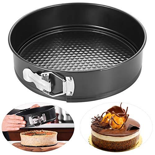 HelloCreate, stampo rotondo per torte antiaderente, teglia da forno con base rimovibile, stampo per torte, teglie da forno 22.5*22.5*6.8cm