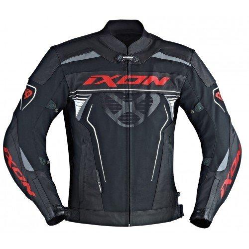 Ixon–Chaqueta Moto–Ixon Frantic negro/blanco/rojo