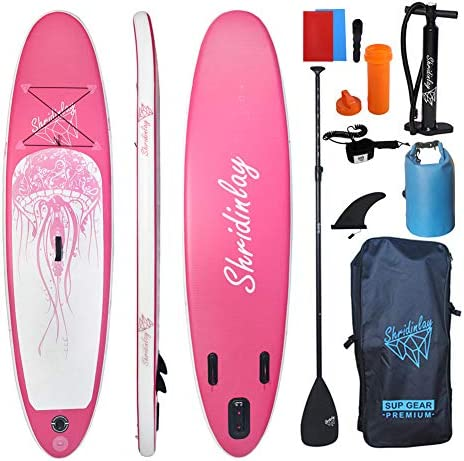 Shridinlay Inflatable Stand Up Paddle Board Surfing SUP Boards 6 Inches Thick ISUP Boards with product image