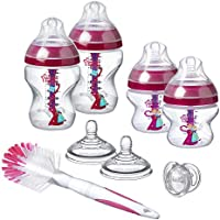 Tommee Tippee 422713 Zestaw Butelek Antykolkowych Dla Noworodków, Różowy/Przezroczysty, Zestaw: 2 x 260 ml + 2 x 150 ml...