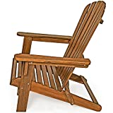 Sonnenstuhl Adirondack Akazienholz klappbar abgerundete Armlehnen Deckchair Liegestuhl Holzstuhl Gartenstuhl - 7