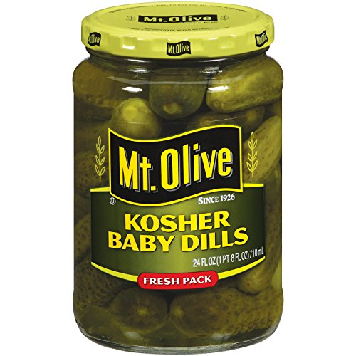 MT. Olive Kosher Baby Dills Fresh Pack Jar, 24 oz