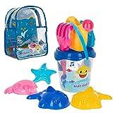 ColorBaby - Mochila, cubo y accesorios de playa Baby Shark (77247)