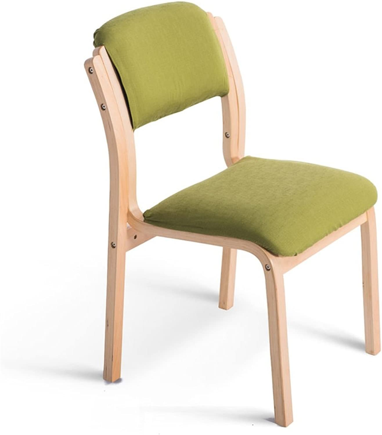 Wooden Chair Backrest Used Desk Dining Learning Makeup Chair Home & Commercial Concise Style Decoration Green