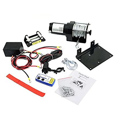 Safstar DC 12V Electric Recovery Winch Truck SUV Car Wireless Remote Control Kit