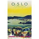 Chifang Norwegen Tourismus Reise Poster Oslo 1959