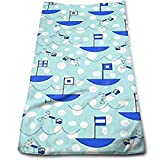 Edmun Barcos Banderas náuticas Paños faciales de Microfibra súper Suave y Altamente Absorbente Toallita de baño 80 * 130 cm