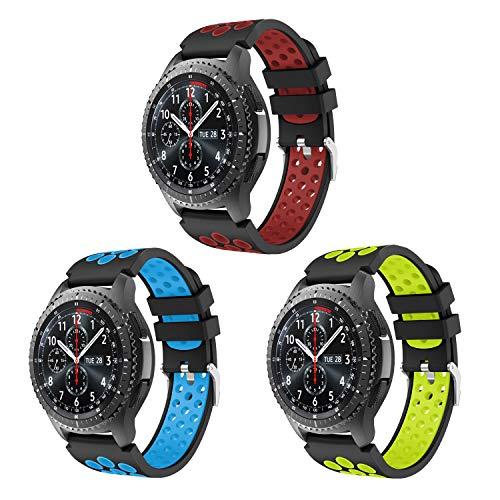 Syxinn Compatibile con Cinturino Gear S3 Frontier/Classic/Galaxy Watch 46mm Cinturino, Braccialetto di Ricambio in Silicone Sportivo Cinturino per Gea