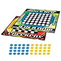 Franklin Sports Checkers and Four in A Row Mat Game - Addictive Family Fun! - Soft Play Mat for Kids of All Ages - Comes with 42 Plastic Pucks by Franklin Sports