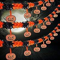 3-Pack Jetec 30ft Halloween Pumpkin Garlands Decoration Prop