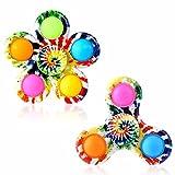 Effacera Popper Fidget Spinner Toys 2 Pack, Tie Dye...