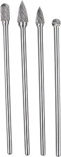 Ovovo Long Reach Double Cut Carbide Rotary Burr Set Tungsten Carbide Bit 1/4