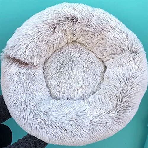 Tivivose Super Soft Dog Bed Sofa Plush Cat Mat Dog Beds For Labradors Large Dogs Bed House Pet Round Cushion Best Dropshipping (Color : Gradient Coffee, Size : Xl 80cm)