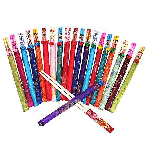 20 Pairs Assorted Design Chinese Natural Wooden Disposable Chopsticks Set ~ We Pay Your Sales Tax (P22666)