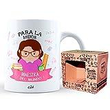 Mr Cool Taza en Caja Regalo en Mensaje para la Mejor Maestra ¡del Mundo, Cerámica, Multicolor, 15x10x5 cm