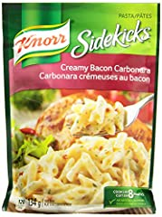 Penne pasta with bacon in a creamy garlic sauce 134g