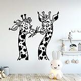 Moderno vinilo de jirafa pegatina de pared de cocina papel tapiz habitación de niños Diy decoración del hogar pegatina de pared Mural A1 XL 58x59cm