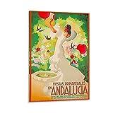 WERTF Vintage-Reise-Poster, Andalusien, Spanien,