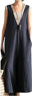 DressU Women's Literature Faded Deep V Neck Wide Legs Long Pants