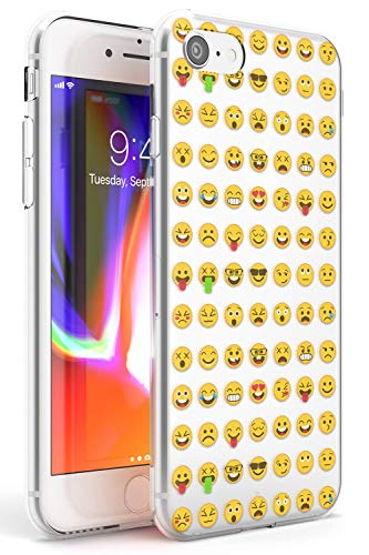 Claro Patrón Emoji Funda de Teléfono de Goma Slim Cover para iPhone 7, para iPhone 8 Emoticon Emojis Linda Gracioso Teclado