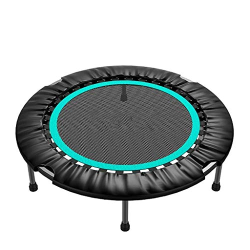 LuoMei Sports Indoor Bounce Trampoline Fitness Folding/Small Trampoline for Adults Safety with Handle/Exercise Rebounder Workouts Jumper Witlake Blue