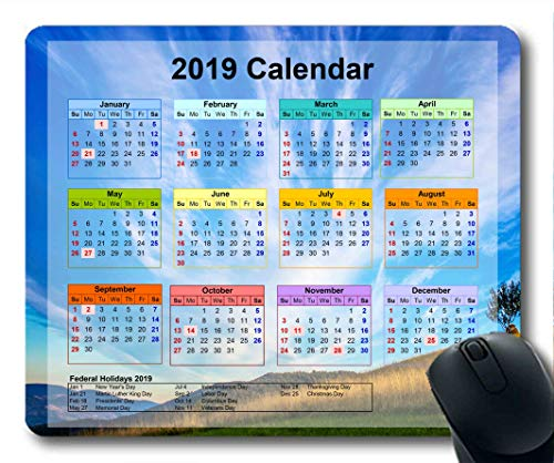 2019 Kalender-Mauspads, Silvester-Mauspad, Sky News Gaming-Mauspad