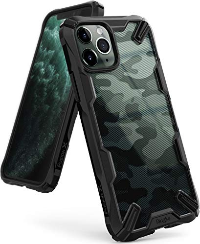 Ringke Fusion X DDP Disenado para Funda Apple iPhone 11 Pro MAX Transparente al Dorso Carcasa iPhone 11 Pro MAX 65 TPU PC Funda para iPhone 11 Pro MAX 2019 Camo Black