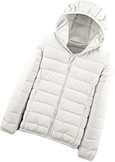 Macondoo Women's Puffer Hooded Winter Lightweight Packable Down Coat Jacket