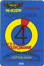 Foreigner 1982 Radio Promo Backstage Pass Ozzy Osbourne Loverboy KZEW