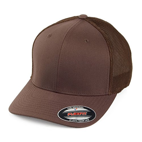 Village Hats Casquette Trucker Tonal Marron Flexfit - Brun - Taille Unique