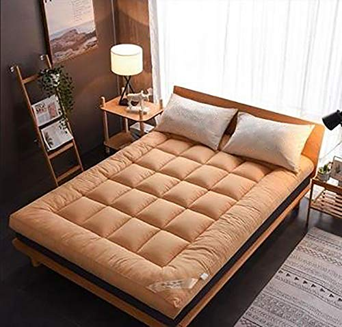 GFRYY Futon Mattresses Thicken Futon Soft Floor Folding Portable Mattress,Double Single Japanese Futons,Japanese Tatami Roll Mat Foldable Mattress Thicken Warm Soft Not-Slip Ta
