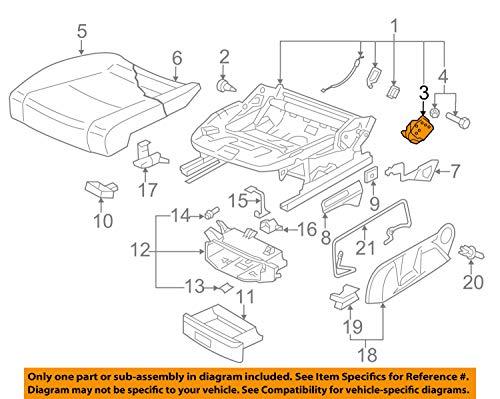 Volkswagen 1K0881053A Verstellelement Höhenverstellung Fahrersitz vorn