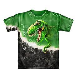 1. Dawhud Direct T-Rex Green Tie-Dye Tee Shirt