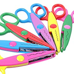 6 PIECE SCISSOR SET – Arts & Crafts Scissor Set Provides Endless Design Possibilities for Your Albums, Greeting Cards, Memory Books, Gift Tags & Other Paper & Photo Crafts CREATE FUN DECORATIVE BORDERS – Make Intricate Embellished Cuts for Distinct E...